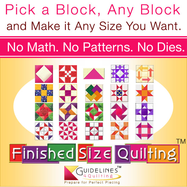 Finished-Size Quilting by Guidelines4Quilting
