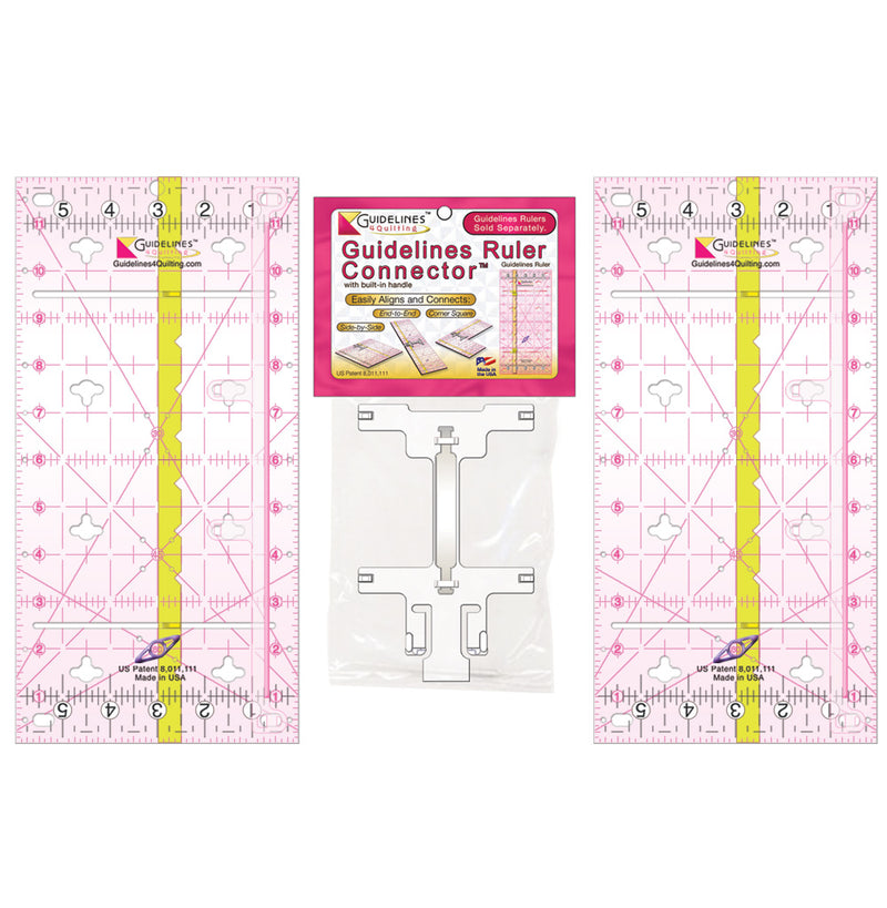 2 Guidelines-Ruler Set with 1 Connector