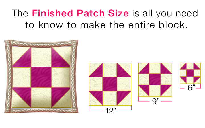 Half Square Triangle Seam Allowance Addition with Built-in Finger Guard