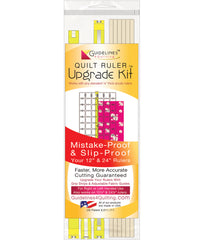 Quilt Ruler Upgrade Kit with Grip Strips & Fabric Guides