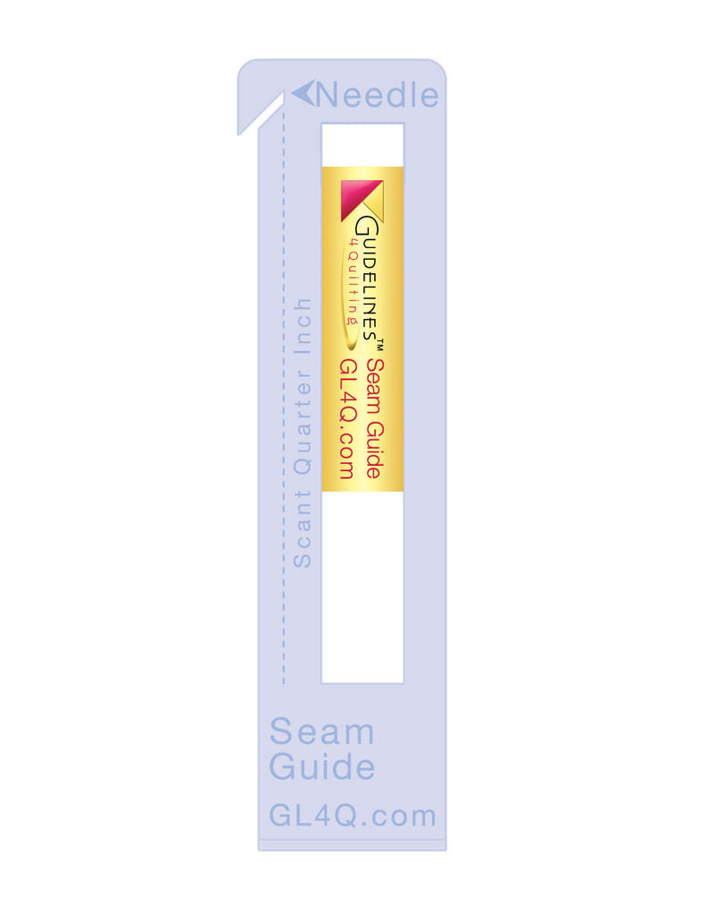 "Super Easy Seam Guide Setter with 6 Seam Guides for accurate scant 1/4"" seams"