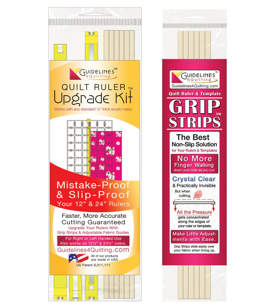 Quilt Ruler Upgrade Kit & Grip Strips Combo