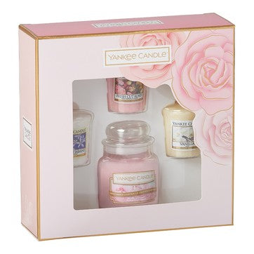 3 Votives And 1 Small Jar Gift Set