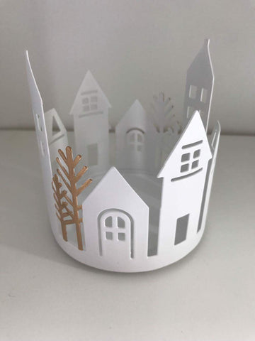 Winter Village Jar Sleeve