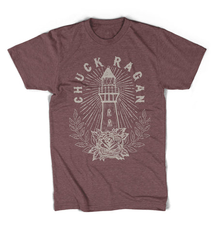 """Lighthouse"" Shirt - Maroon Heather"