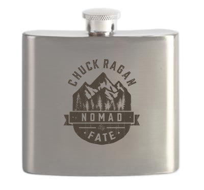 """Nomad By Fate"" Steel Flask"