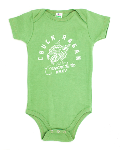 """Wolf"" - Organic Cotton Onesie - Green"