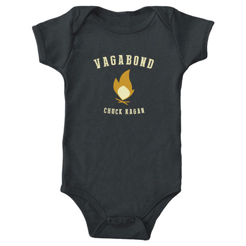 """Vagabond"" - Organic Cotton Onesie - Black"
