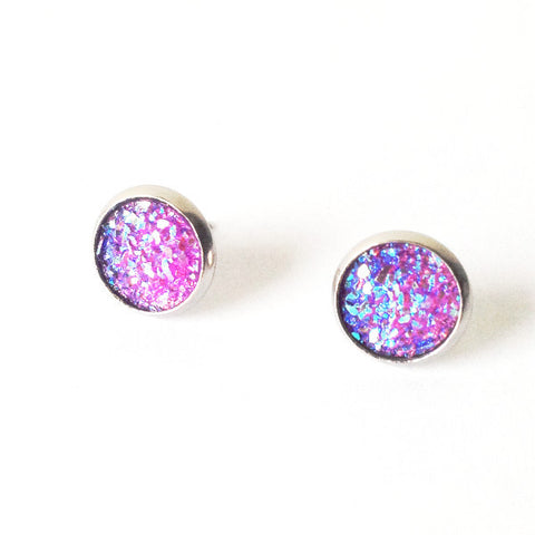 Sparkly Purple Earrings