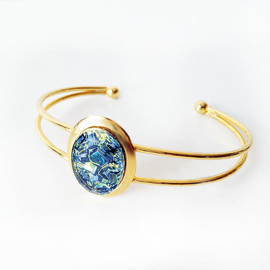 Blue Dragon Egg Cuff Bracelet (blue)