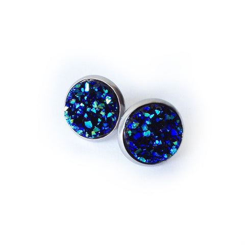 Midnight Blue Druzy Earrings