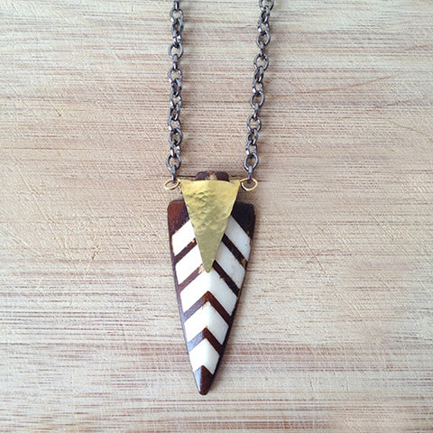 Buffalo Bone Arrow Necklace