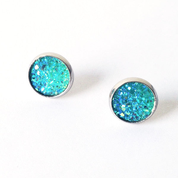 Sparkly Aqua Earrings