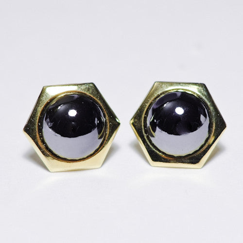 Hexagon Earring (Black)