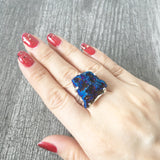Sterling Silver Titanium Druzy Ring