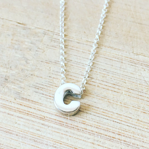 Sterling Silver Custom Initial Necklace