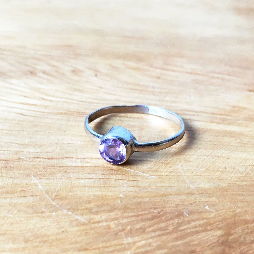 Sterling Silver Amethyst Stack Ring