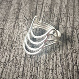 Sterling Silver Triple Moon Ring