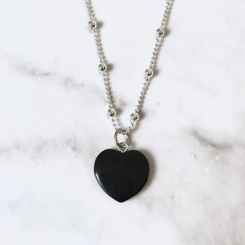 Obsidian Heart Necklace