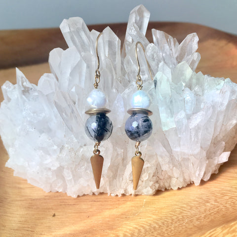 Warrior Pearl Earrings