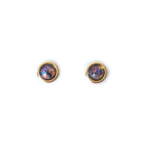 Mini Planet Earrings (Dark Blue)