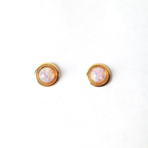 Mini Planet Earrings (pink opal)