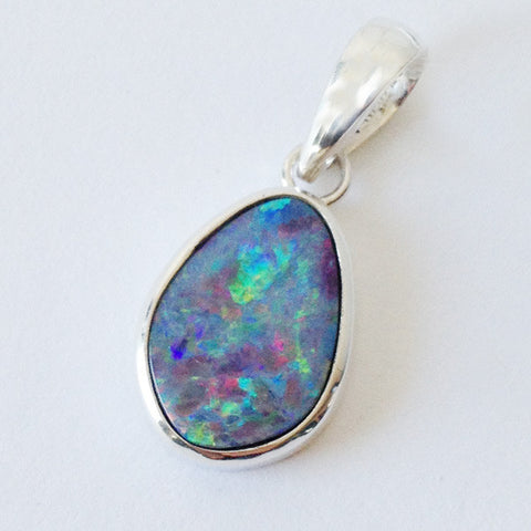 Sterling Silver Opal Necklace #3