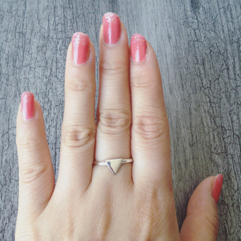 Triangle Ring (sterling silver)