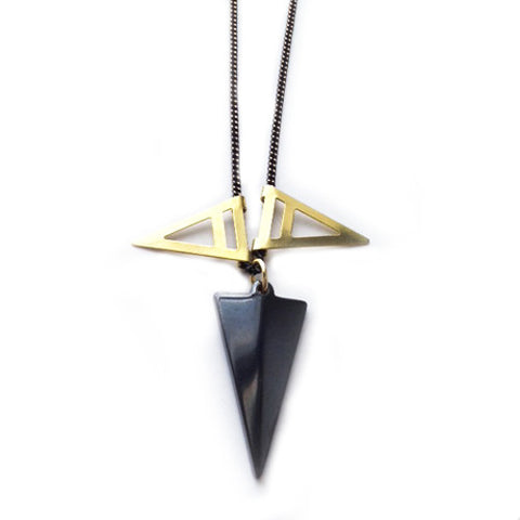 Triple Triangle Necklace