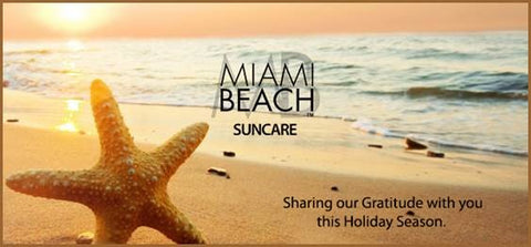 Miami Beach Suncare Shares Gratitude this Holiday Season
