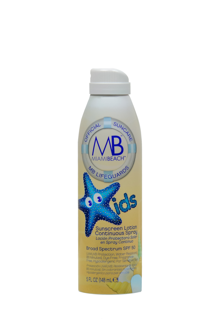 MB Kids Continuous Spray Sunscreen Lotion, SPF 50