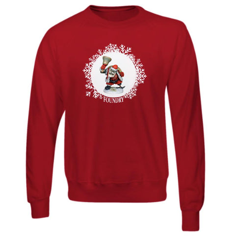 Printed Orc Santa Sweatshirt - Red