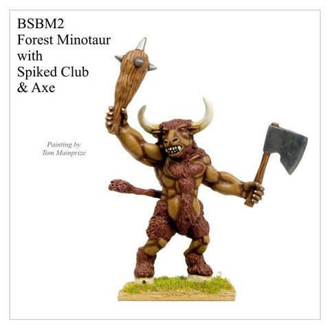 BSBM002 - Giant Minotaur with Club and Axe