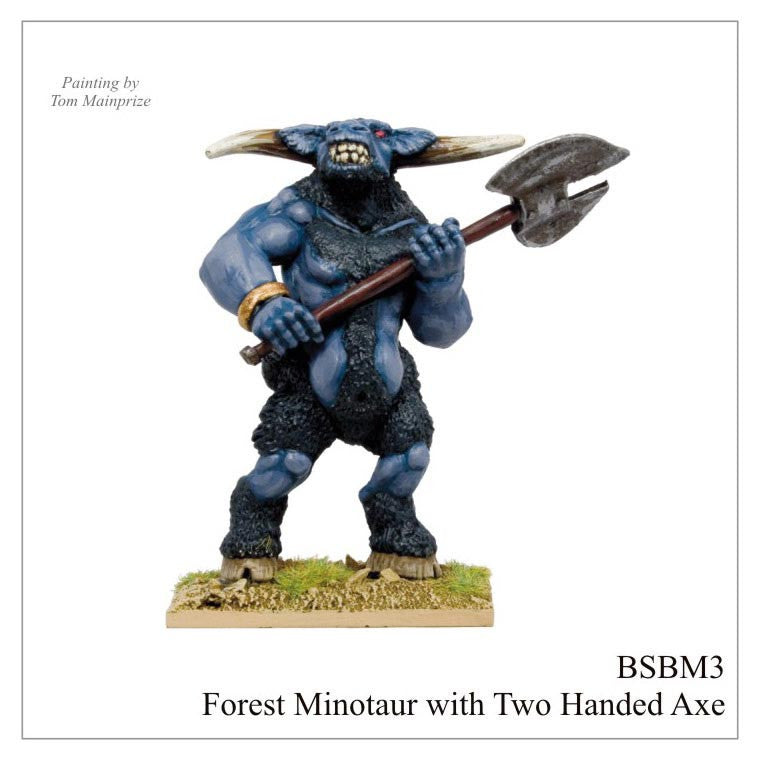BSBM003 - Giant Minotaur Wielding Double Headed Axe