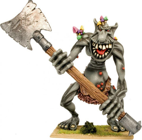 BSTR001 - Giant Troll Wielding a Giant Double Headed Axe