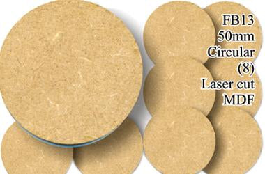 FB013 - 50mm Round MDF (8 bases)