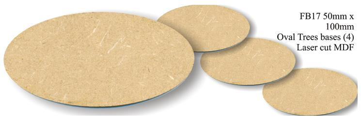 FB017 - 50 x 100mm Oval (4 bases)
