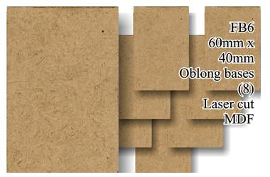FB006 - 60mm x 40mm Oblong MDF (8 bases)