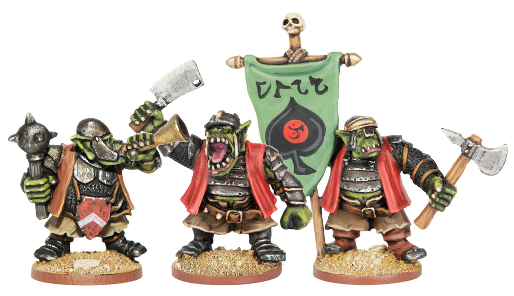 ORCP501 - Armoured Orcs With Standard, Horn & Cleaver