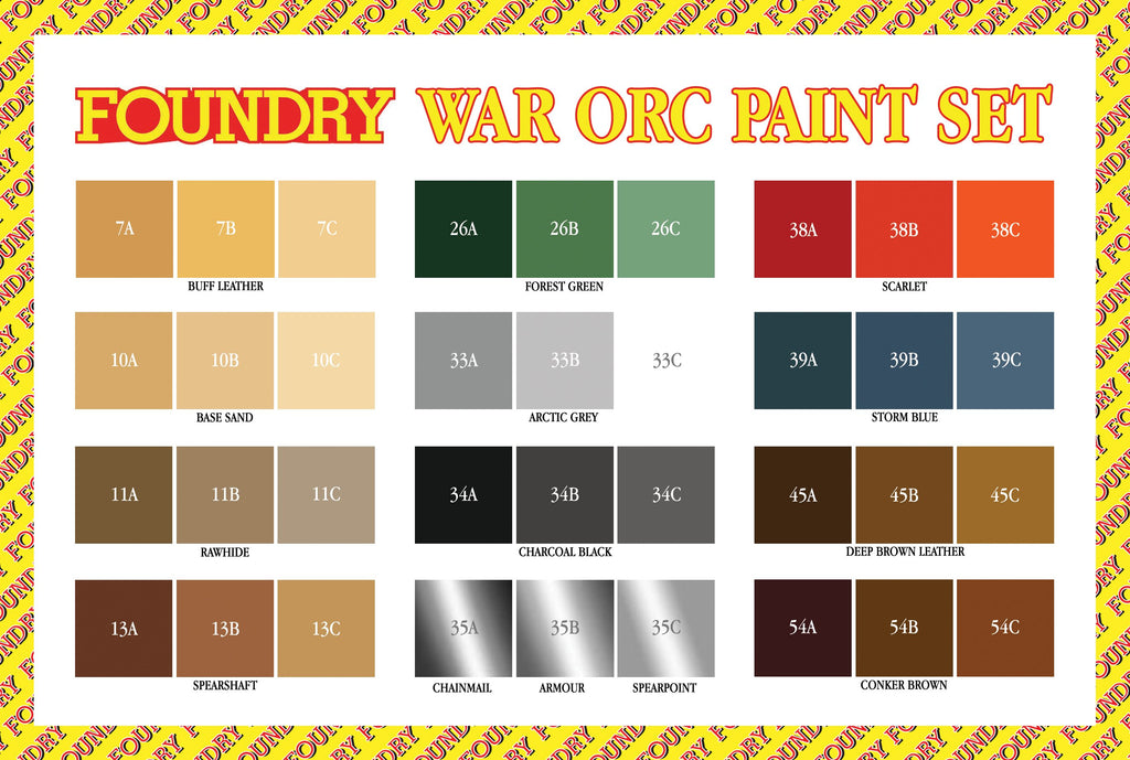 War Orc Paint Set