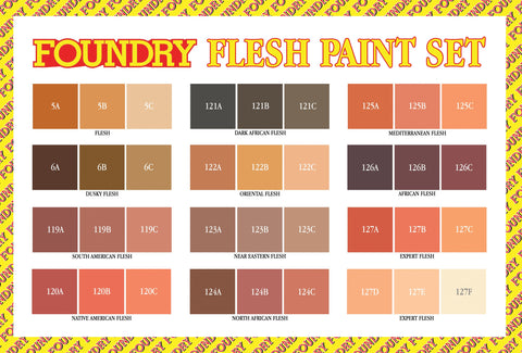 Flesh Paint Set - Updated Selection