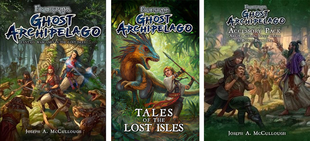 BUY ALL 3: Frostgrave: Ghost Archipelago: Hardback, Tales of the Lost Isles & Accessory Pack