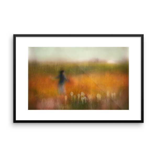 A Girl and Bear Grass