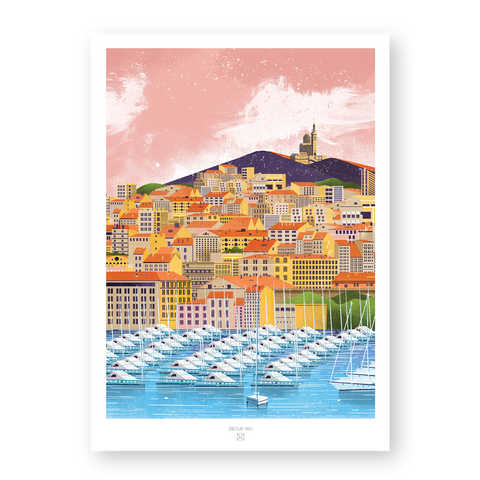 City Illustration - Marseille