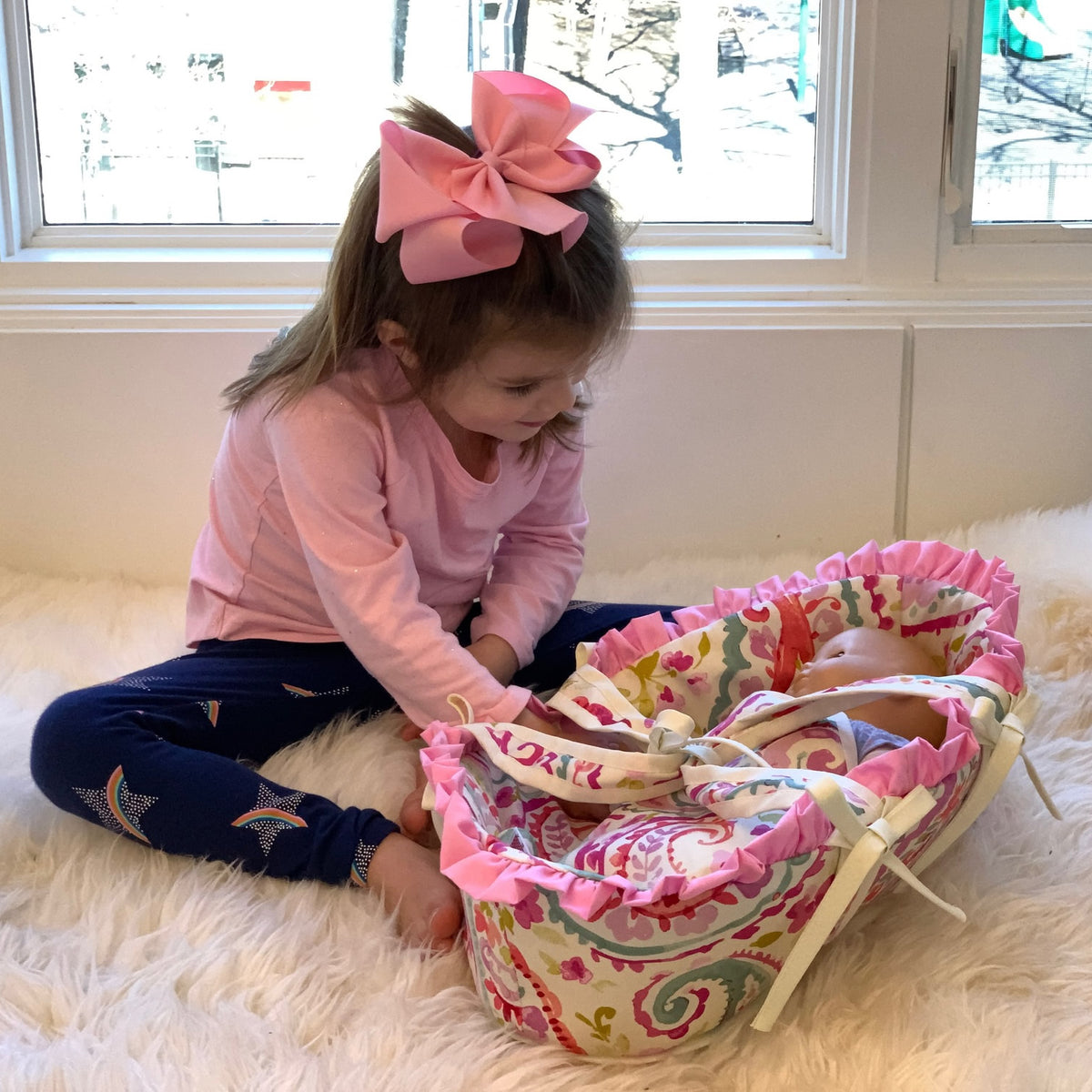 Personalized Doll Basket