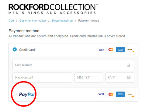 PayPal Credit – Rockford Collection