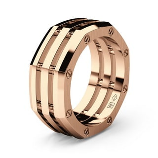 GRANT Gold Mens Wedding Band