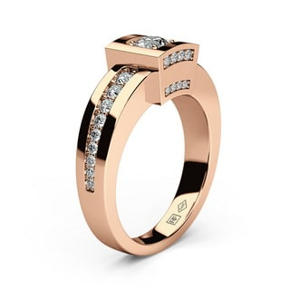 VULTURE Gold Mens Wedding Ring with Diamonds