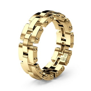GETCHELL Gold Mens Wedding Band