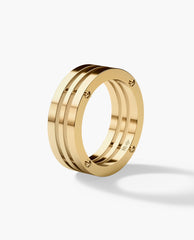 BREWER Mens Gold Wedding Band